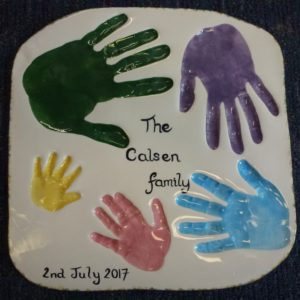 Family hand print plaque