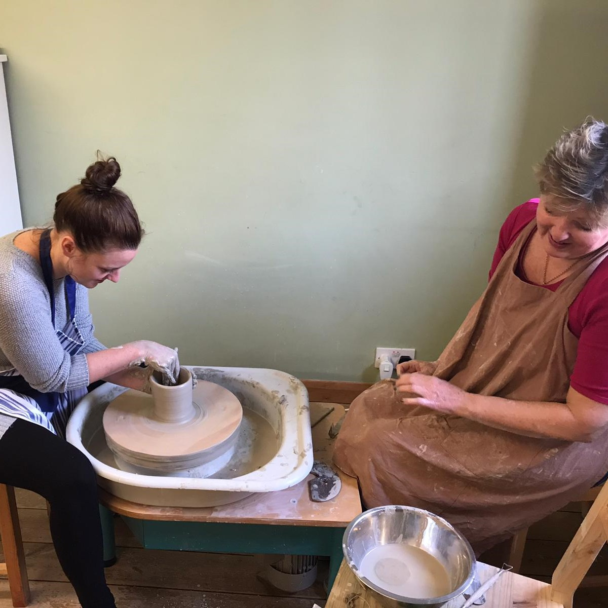 using a potters wheel