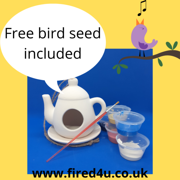 bird feeder with seed and pain