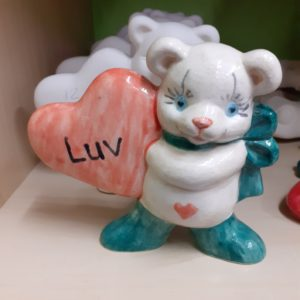 Bear with heart ornament