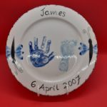 mothers day hand print plate