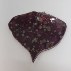 purple poplar leaf