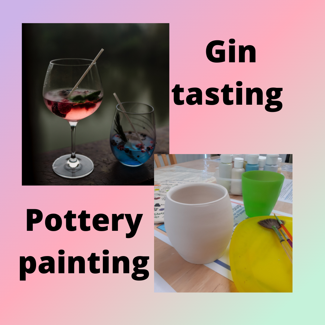 Gin tasting and pottery night
